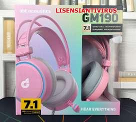 Headset DBE dbE GM190 7.1 Virtual Surround Gaming Headphone - Pink