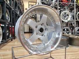 Velg Racing Ring 16 GT5 Silver Polish Innova, Ertiga, dll Gogo Ban