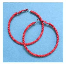 Medium size hoop earrings