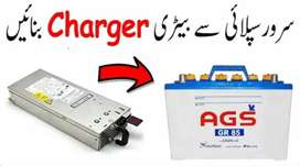 Power Supply 62Ampere Charger For Battery 12volt