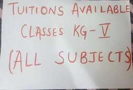 I'm a tutor for class KG till class 5