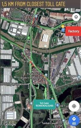 Tanah  Kapten Darmosugondo Gresik Gudang Pabrik (LA 80)