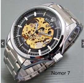 Jam tangan pria rolex otomatis real pict