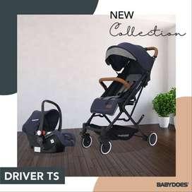 Kereta Dorong bayi Babydoes Driver TS Stroller + Carseat  baby