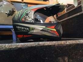 Branded bike racing monster energy helmet is for sale