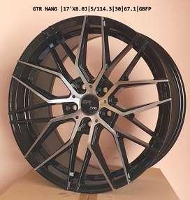 "GTR PRO new 17"" alloys 5 hole 114 pcd with 2 years warranty."