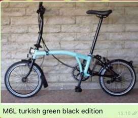 BROMPTON M6L Turkish Green on Black Edition