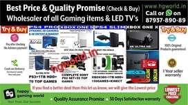 Wholesale Xbox1s 1x 360,PS2 ps3 ps4,Switch,VR-allGamingItems&LED TVs