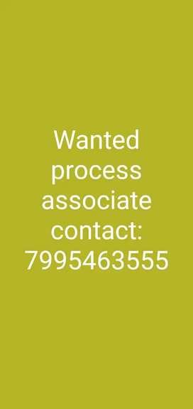 Wanted process associate in tirmalgiri