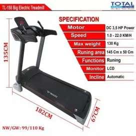 Treadmill Elektrik Jumbo TOTAL 3,5Hp