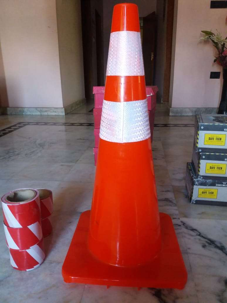 Traffic safety cones Road safety cones Safety shoes Barricade tapes 0