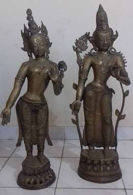 Rare statues of Taradevi and Padmapani
