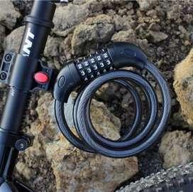 Gembok Pengaman Sepeda Motor Helm Kable Kode Angka 4 5 Digit