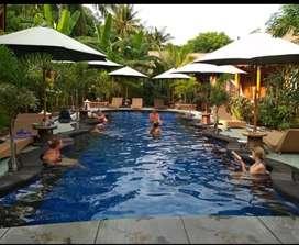 Lelang villa banana cottage Gili air