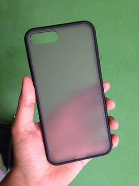 Matte Clear Softcase Iphone 7 Plus 8 Plus - Hitam
