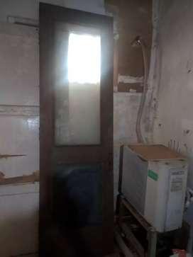 Pintu jati berkaca 240x70