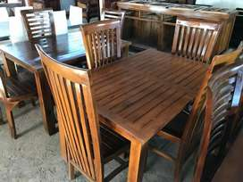Meja makan jati 4 kursi