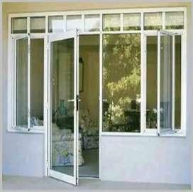 pintu swing kaca polos/murah meriah/887