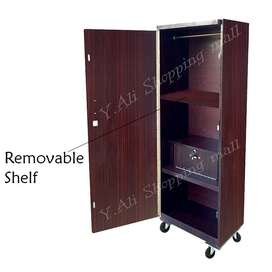 6x2 Feet Single Door Wooden Lamination Wardrobe Cupboard Almari