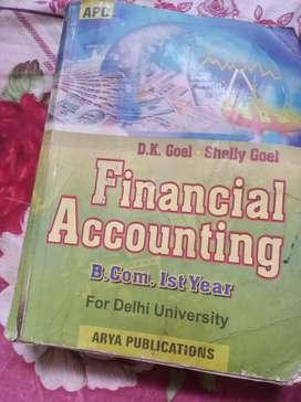 B com 1st Year Financial Accounting Book
