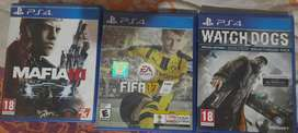 Watch Dogs, Mafia 3 and Fifa 17 in perfect condition
