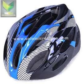 TaffSPORT Helm Sepeda EPS Foam PVC Shell Warna Biru