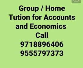 Tution for Accountancy and Economics