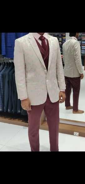 New Raymond self designed trendy floral blazer suit