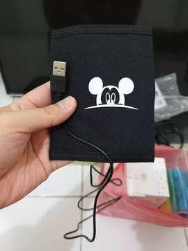 Mickey Mouse Warmer Penghangat Botol Susu Bayi Colokan USB Warna Hitam