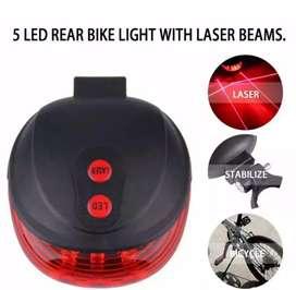 Lampu belakang sepeda laser LED Rechargeable