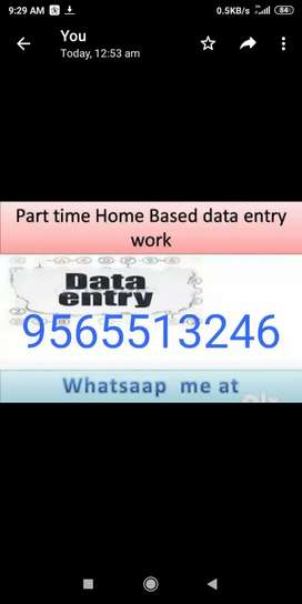 Change your life in few days by doing data typing work