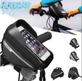 Tas Handphone Layar Sentuh Anti Air Untuk Frame Depan Sepeda