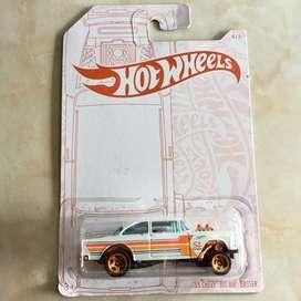 Hot wheels / hotwheels chevy bel air gasser pearl and chrome