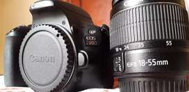 I am selling my new canon 200d. Having 10/10 condition, 2 month used.