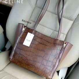 Tas Wanita murah cewek import batam fashion branded,CELINE CABAS CROCO