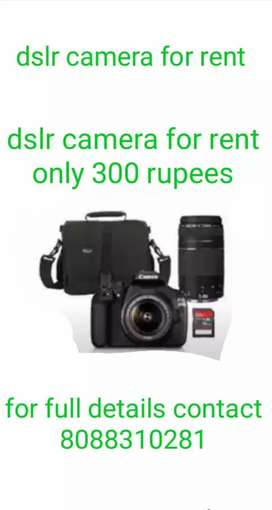 dslr camera for rent in hubli