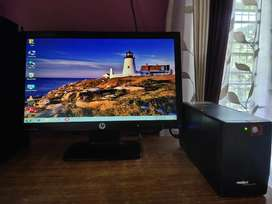 Hp Monitor 20inch with UPS