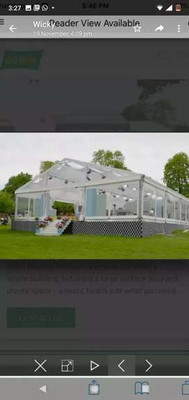 Marquees for different occasions