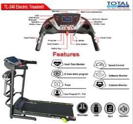 Promo Alat Treadmill Elektrik TL-246 3 Fungsi Free Ongkir & Perakitan