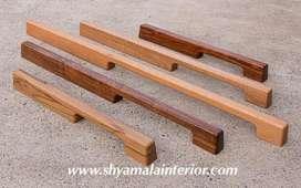 Solid wooden handles