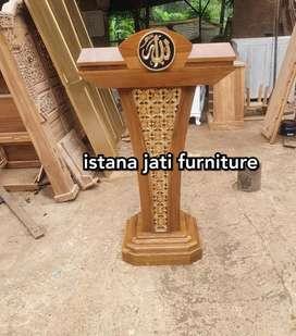 Mimbar masjid dan musholla ( mimbar podium kayu jati )