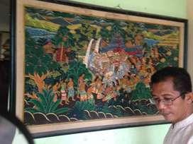 Lukisan kanvas antik dan kuno