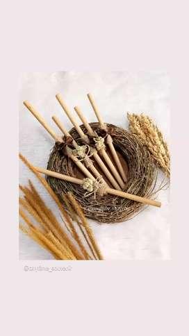 Sedotan bambu 25cm dan 20cm