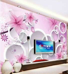 Walls canbe cover with beautiful wallpapers
