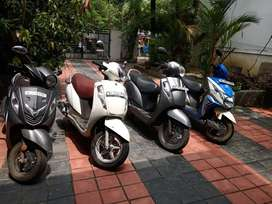 Scooters for monthly and daily rent