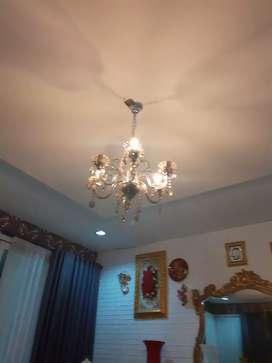Lampu kristal silver