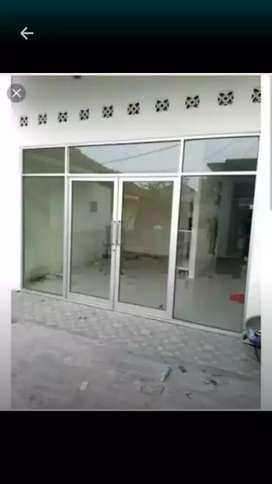Alumunium kaca, kusen, pintu, jendela, partisi/kaca mati