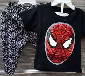 Setelan Spiderman Usap All Size 6-18Month