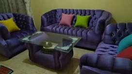 Sofa + Meja Tamu dan Bantal