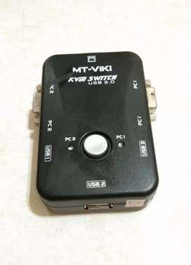 Switch KVM USB 2 port , MT-VIKI buat PC komputer / laptop .